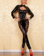 Vinly Leather Catsuit