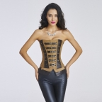 Leather waist trainer slimming waist training corsets