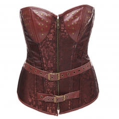 Brown Gothic high waist corset