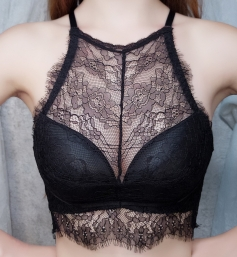 Black Lace Eyelash Bras