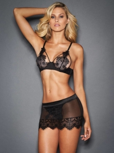 Sexy Black Lace Women Babydoll