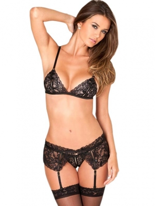 Black Sexy Lace Women Garters