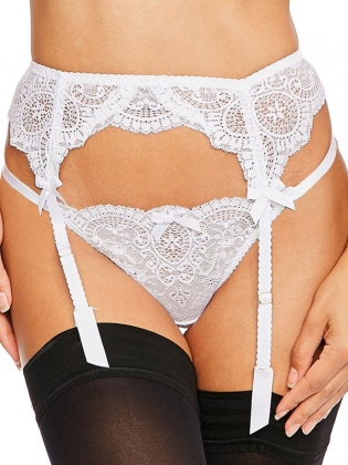 White Sexy Lace Lingerie Garters